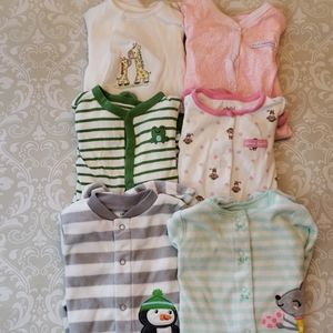 Lot of 6 footed pajamas